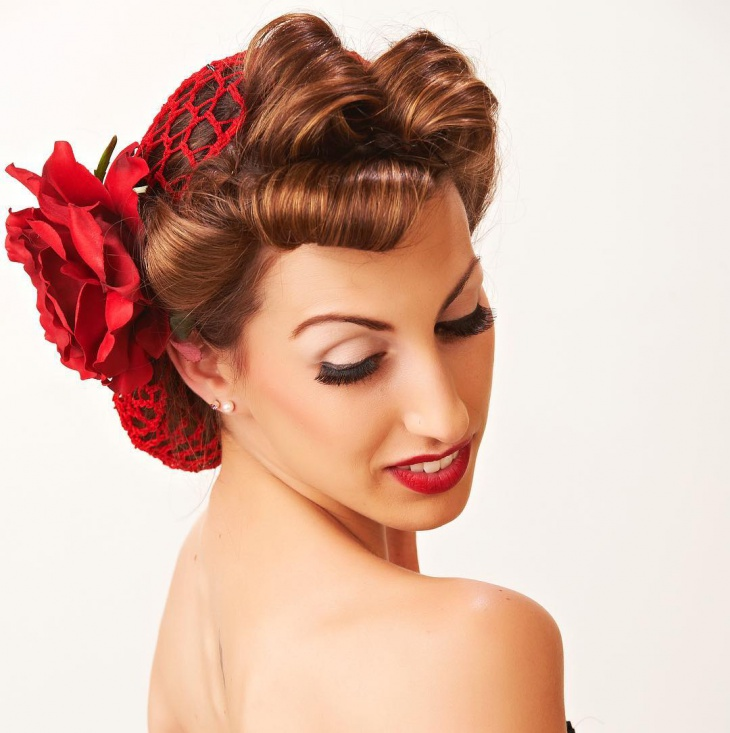 vintage wedding hair and makeup