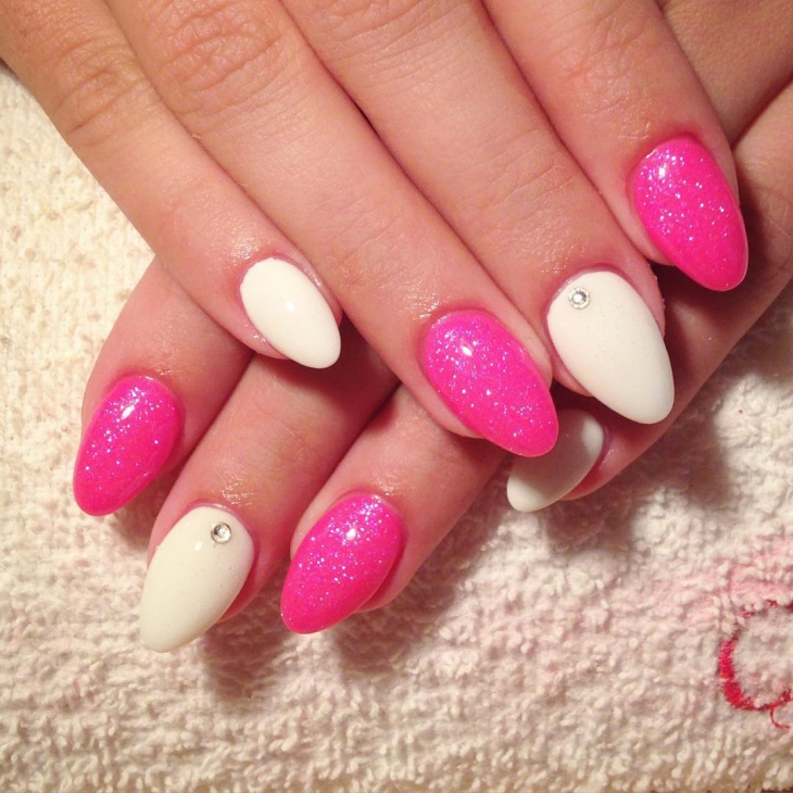 Sparkling Nail Art Design Idea