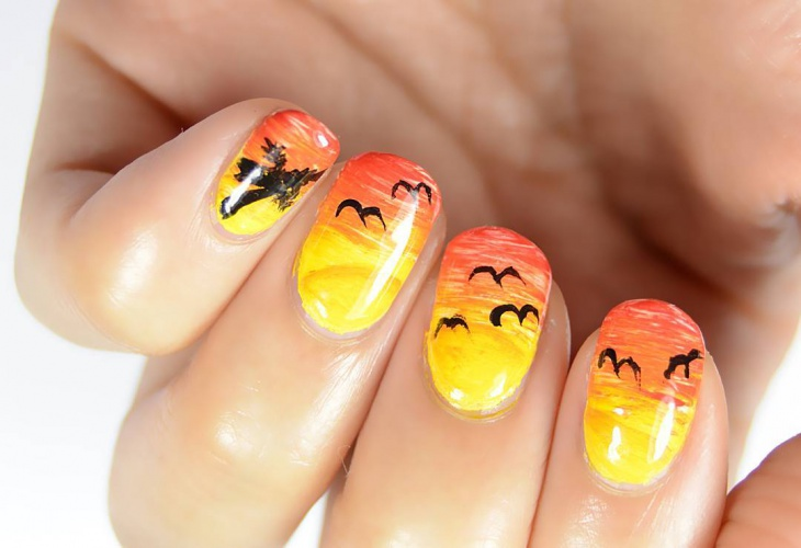 colorful nail art idea
