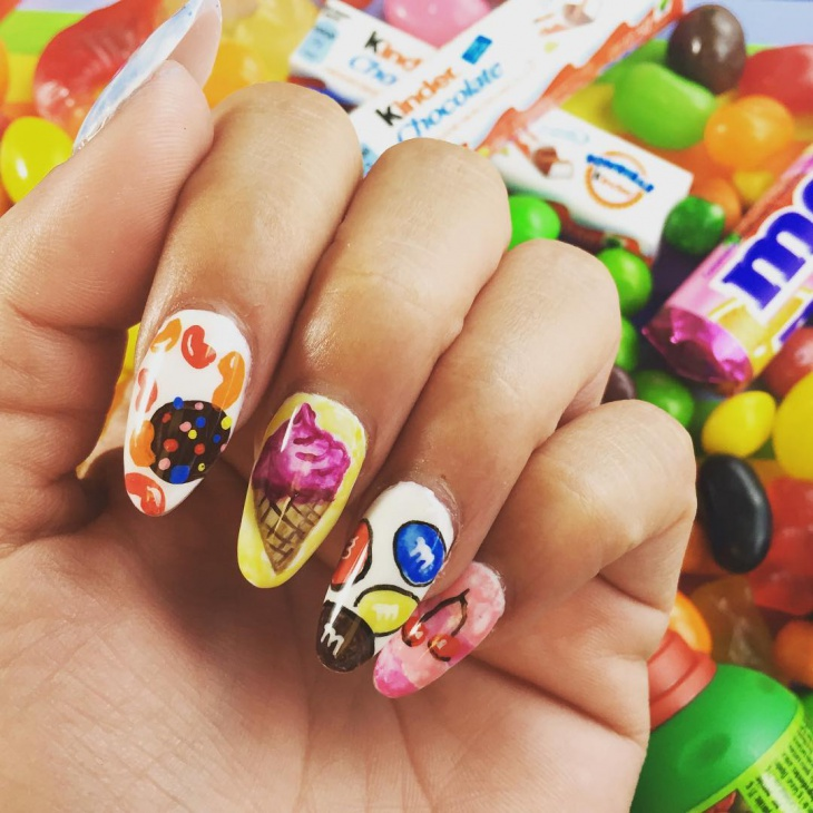 Awesome Candy Nail Art Design - 20+ Candy Nail Art Designs, Ideas Design Trends - Premium PSD