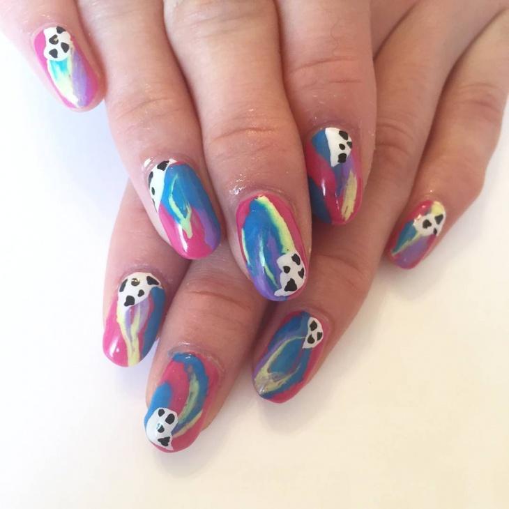 Multi Color Candy Nail Art Idea