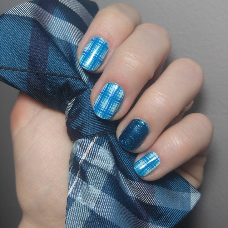 20+ Plaid Nail Art Designs, Ideas