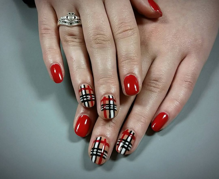 Red Spring Nail Design