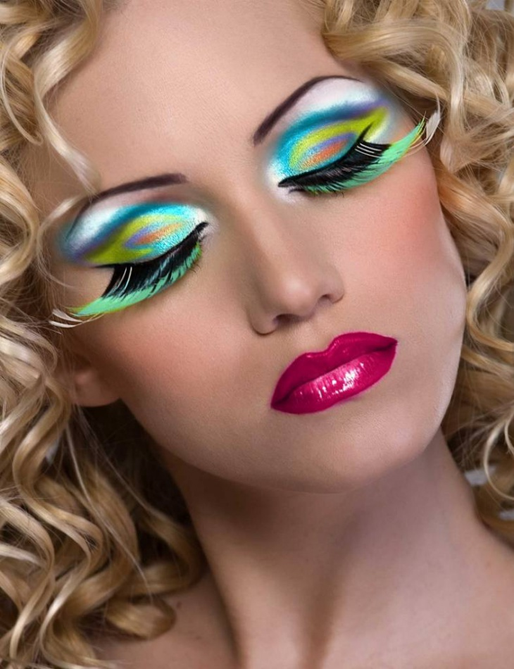 lady gaga peacock eye makeup
