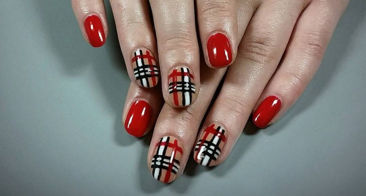 Amazing Plaid Nail Designs - 20+ Plaid Nail Art Designs, Ideas Design Trends - Premium PSD