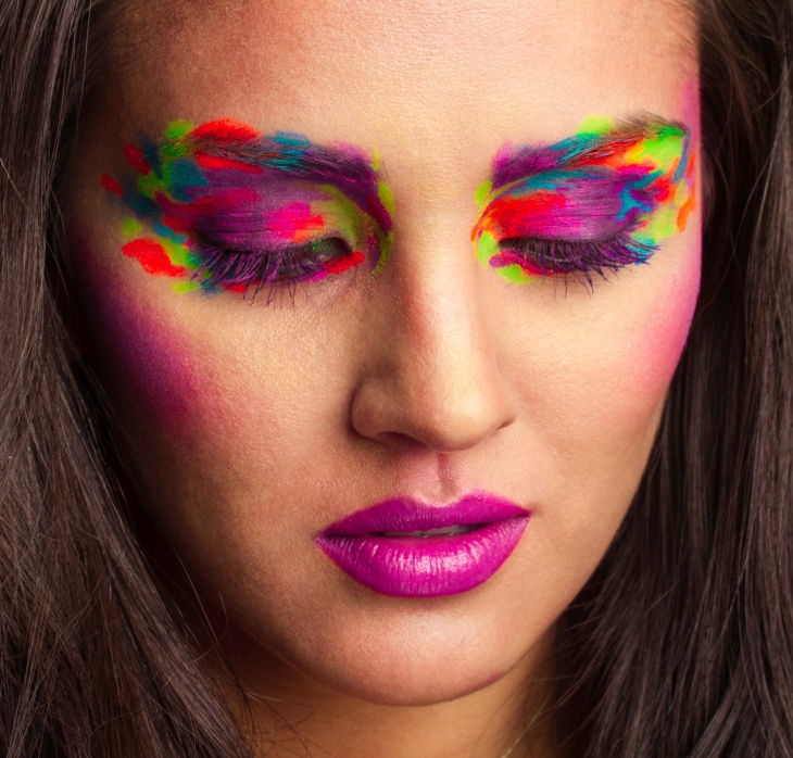 colorful fantasy eye makeup