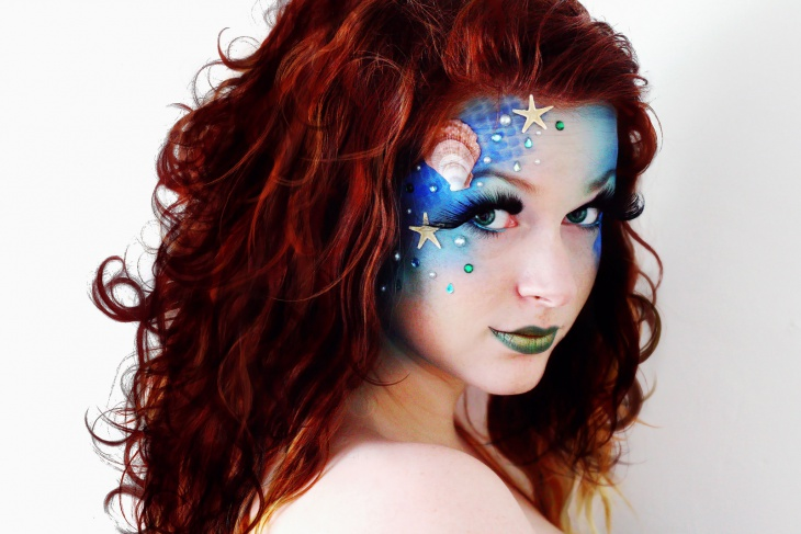 fantasy mermaid makeup