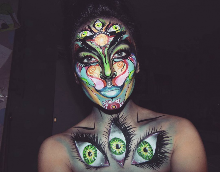 creative face painitng idea