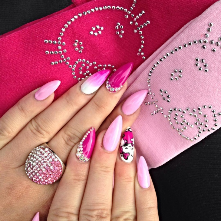 2o rhinestone nail art designs ideas design trends premium hello kitty nail design idea prinsesfo Gallery