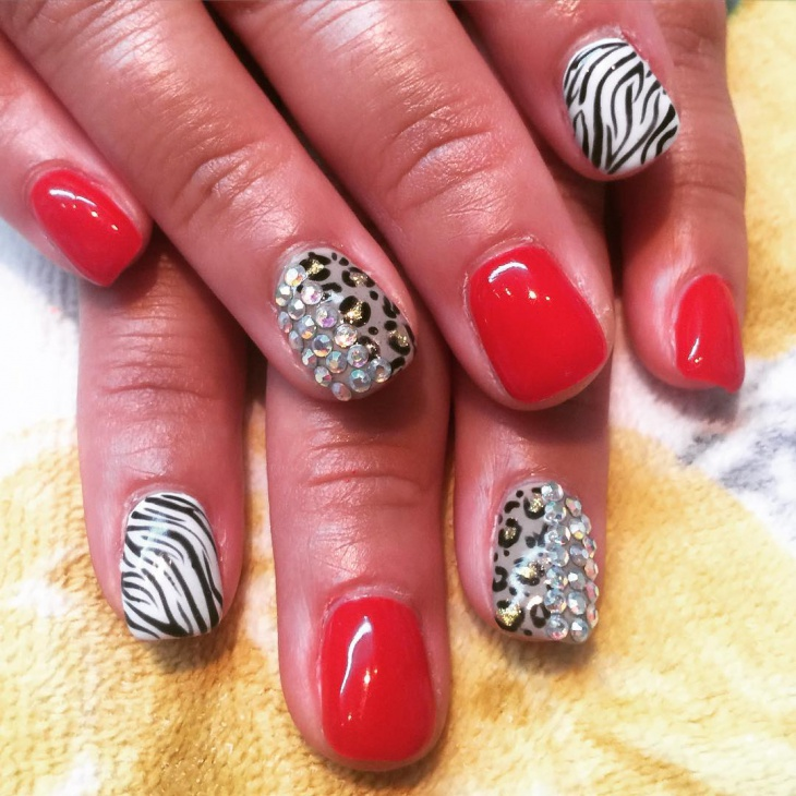 2o rhinestone nail art designs ideas design trends premium leopard print nails with rhinestones prinsesfo Image collections