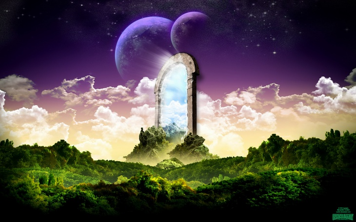 Universe Door HD wallpaper