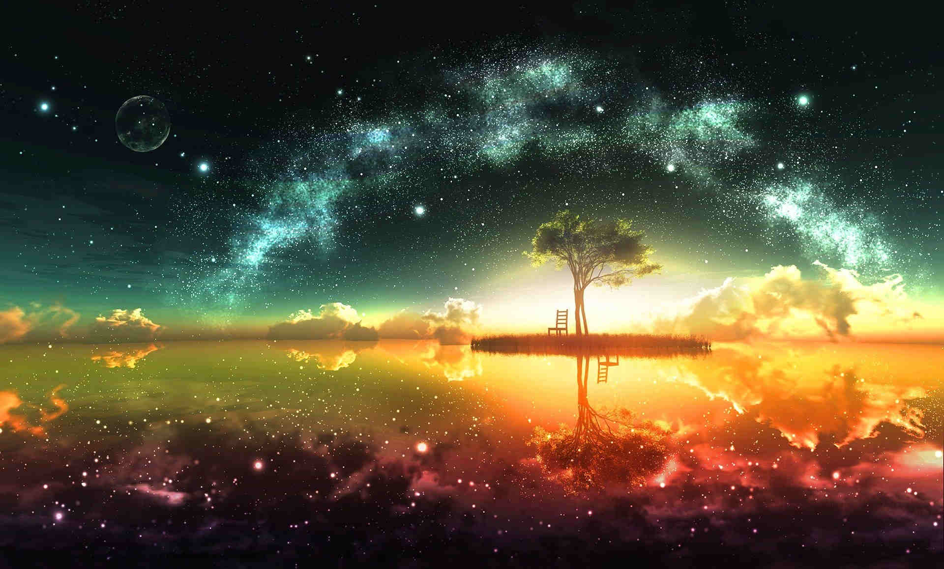 Dreamy Space HD Fantasy Wallpaper