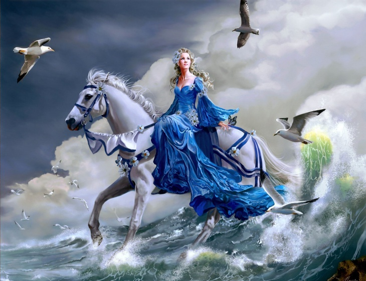 Dreamy and Fantasy Girl HD wallpaper
