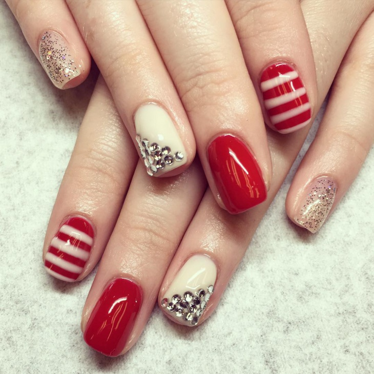 2o rhinestone nail art designs ideas design trends premium red color gel nails prinsesfo Choice Image