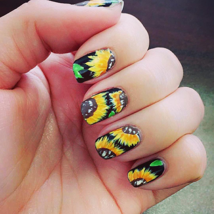 21 sunflower nail art designs ideas design trends