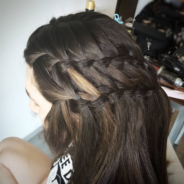 Double Waterfall Hairstyle