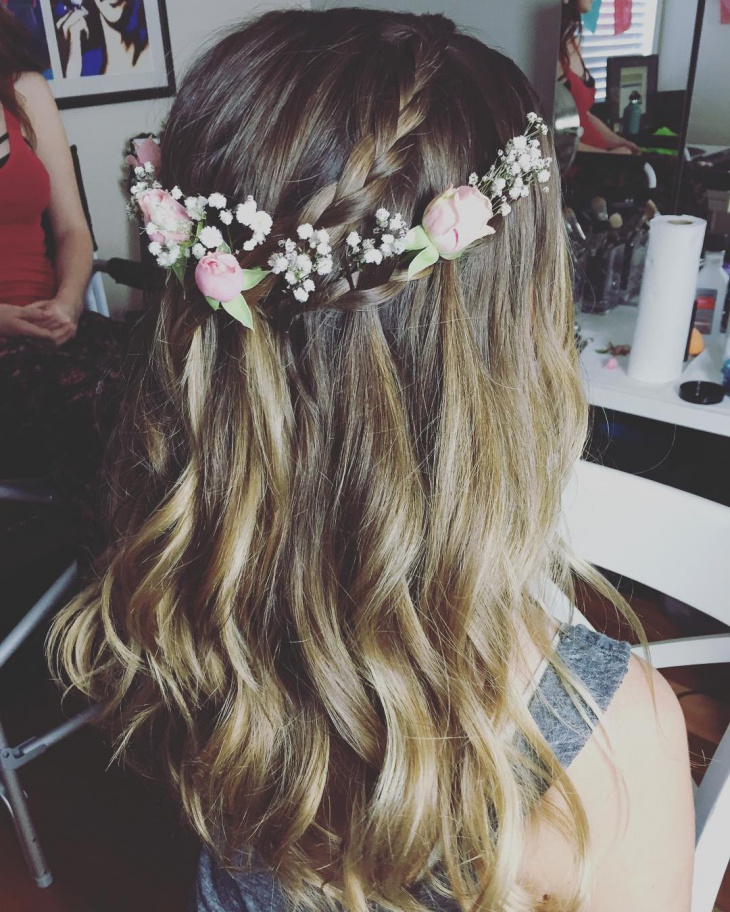 bridal waterfall hairstyle