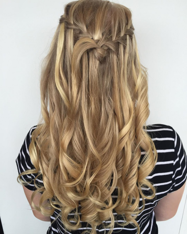 gorgeorus waterfall braid idea