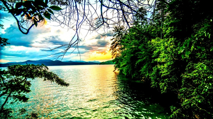 hd lake view background