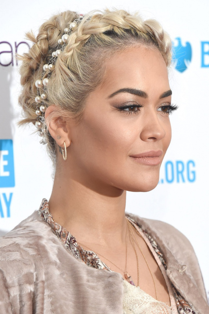 Rita Ora Prom Hair Updo