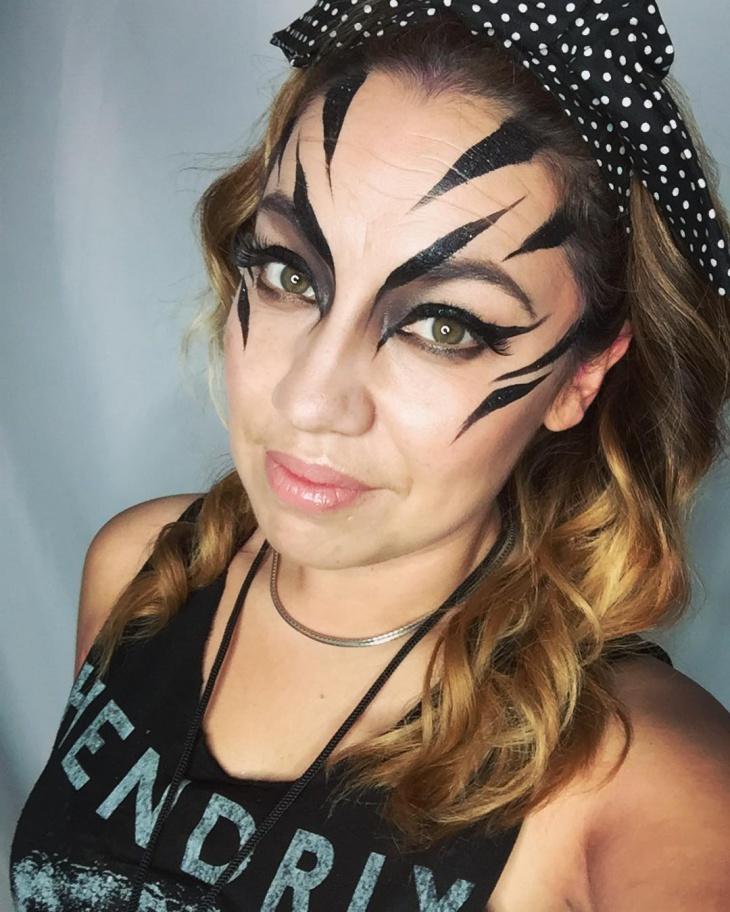 Zebra Print Makeup