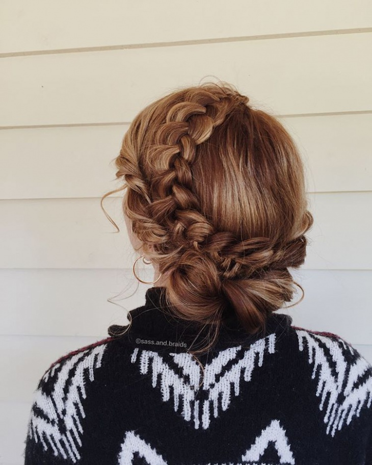 Prom Double French Updo Idea