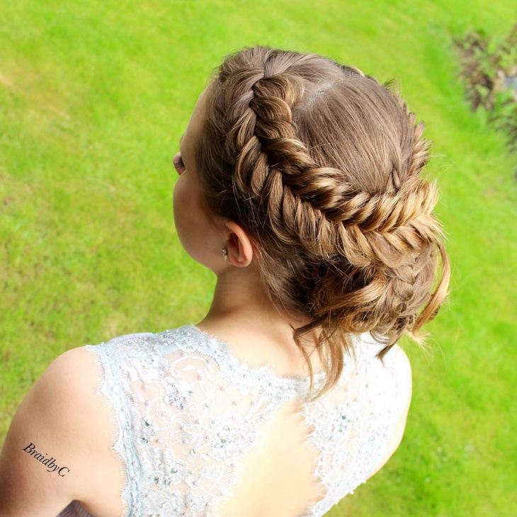 prom braids front and back Hairstyle