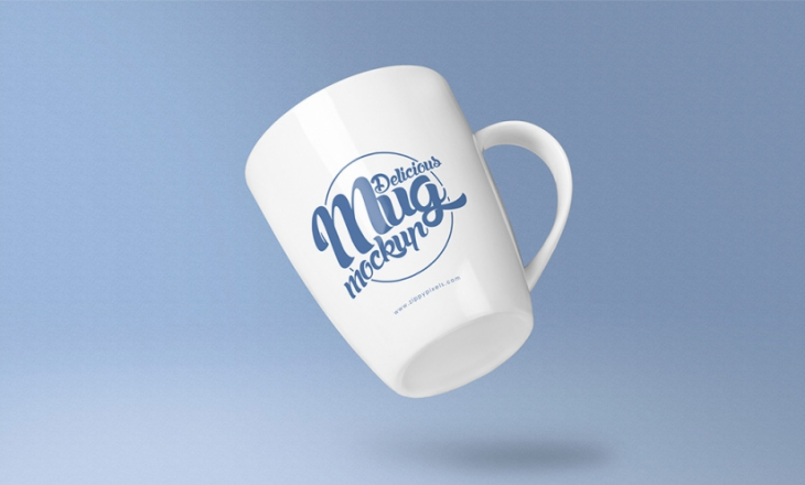 Free Awesome Coffee Mug Mockup PSD
