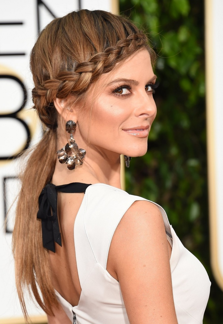maria menounos side twisted french pony