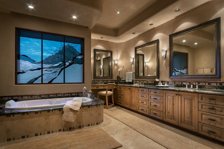Traditional Bathroom with Ceiling