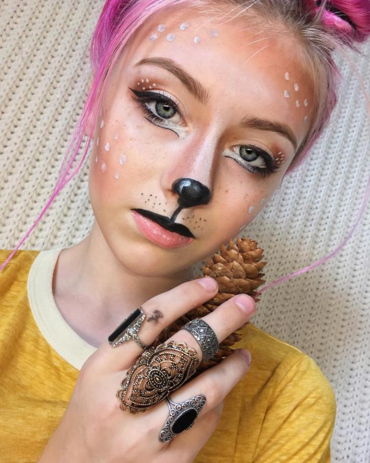cute and easy deer makeup