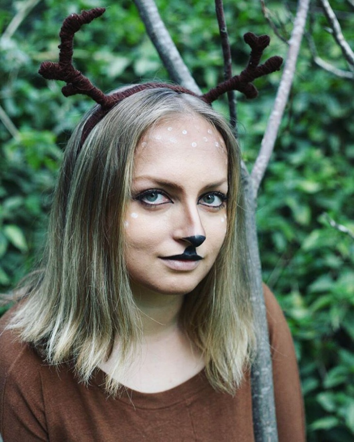animal deer makeup