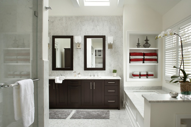 Sophisticated Master Bathroom with Mirrors