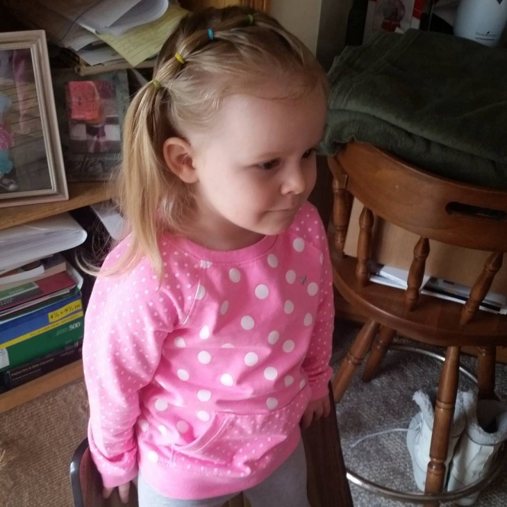 side swept ponytail for kids