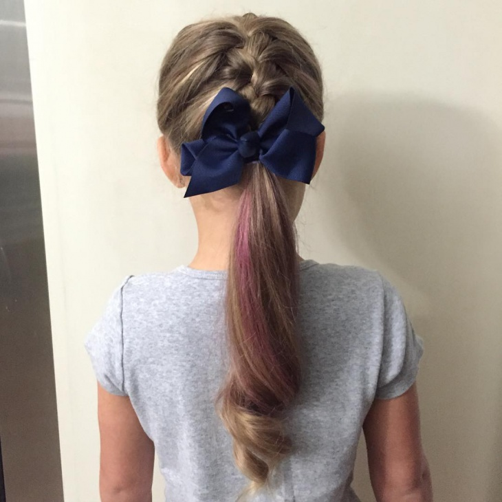french ponytail for toddlers
