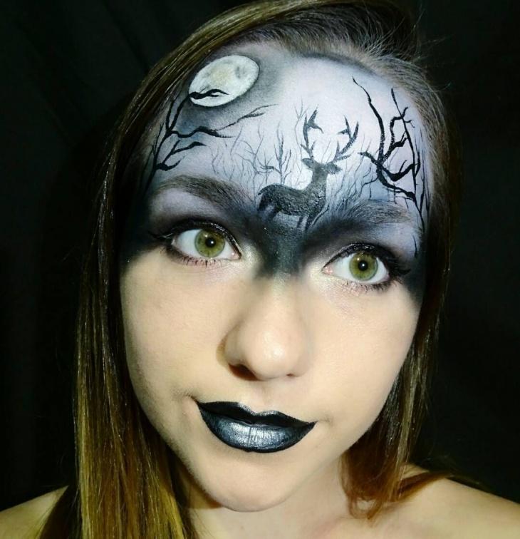 deer fantasy makeup