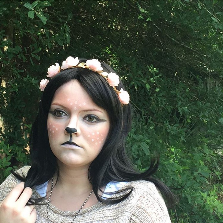 deer makeup for pale skin