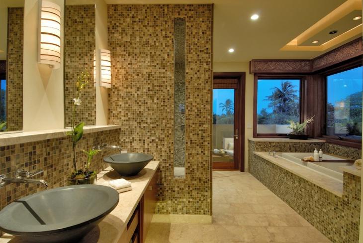 modern mosaic tile bathroom idea