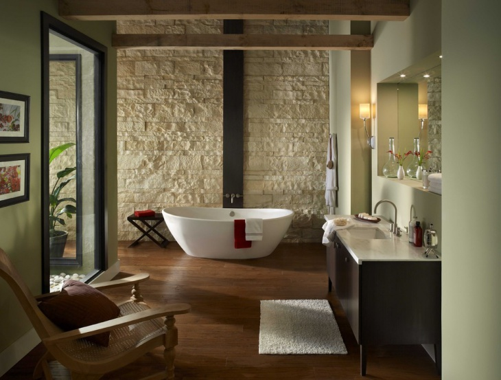 Modernstic Cream Stone Wall Bathroom