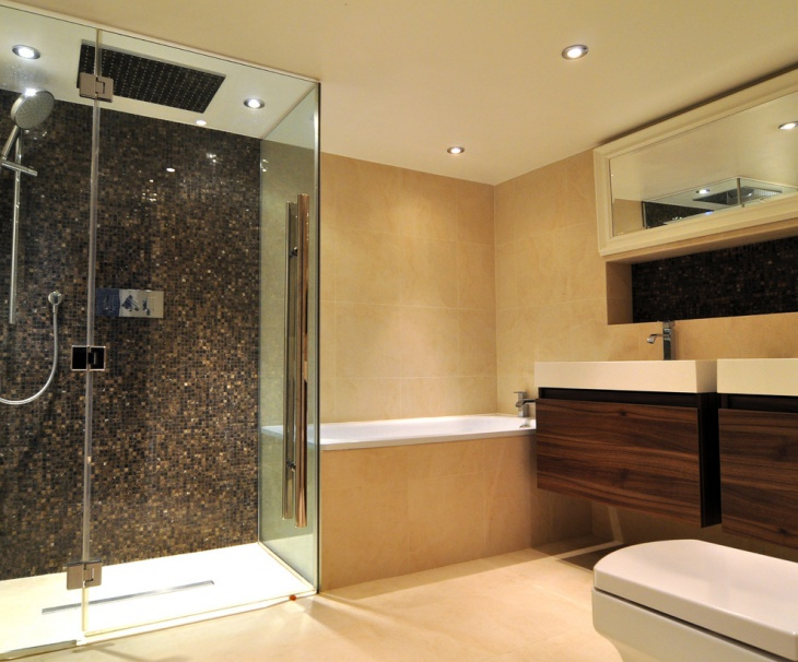 best bathroom with gold marble - Mosaic Tile Design Ideas