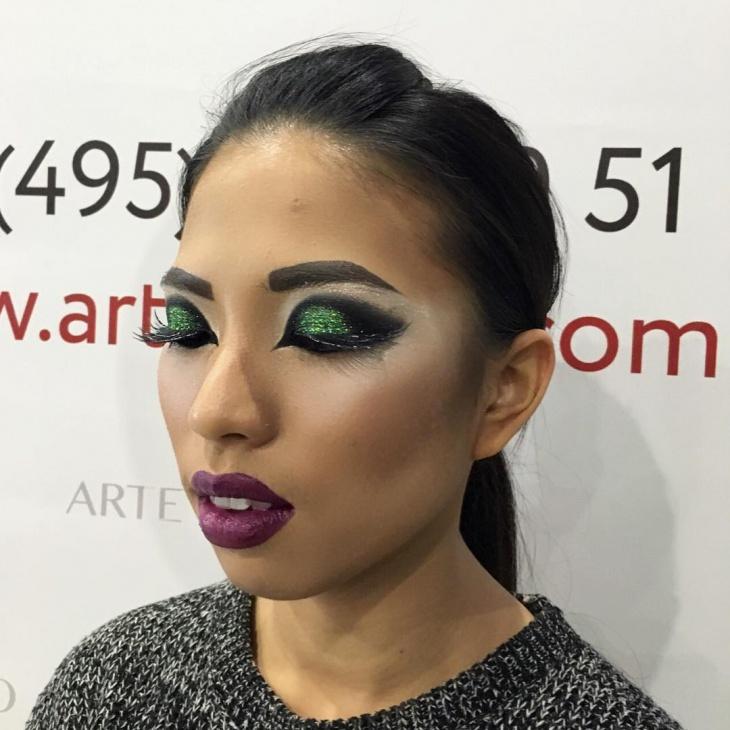 Dance Green Eye Makeup