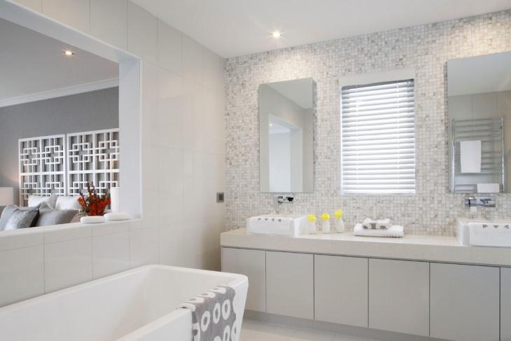 fabulous white tile bathroom