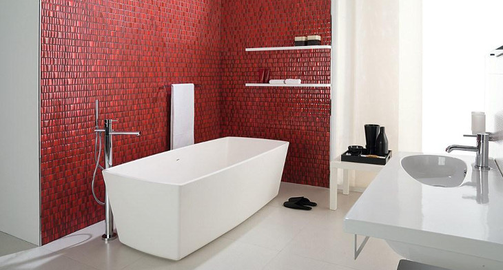 20+ Mosaic Tile Bathroom Designs, Decorating Ideas | Design Trends ...
