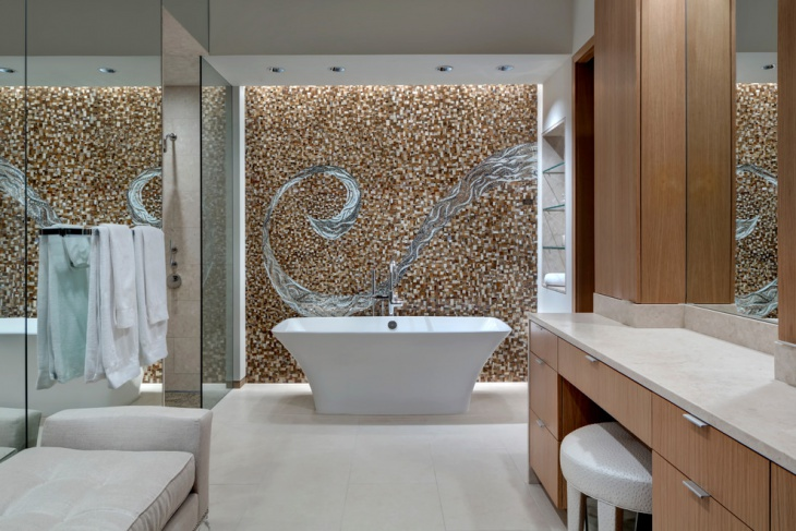 Dazzling Contemporary Stone Wall Bathroom. 21  Modern Stone Wall Bathroom Designs  Decorating Ideas   Design