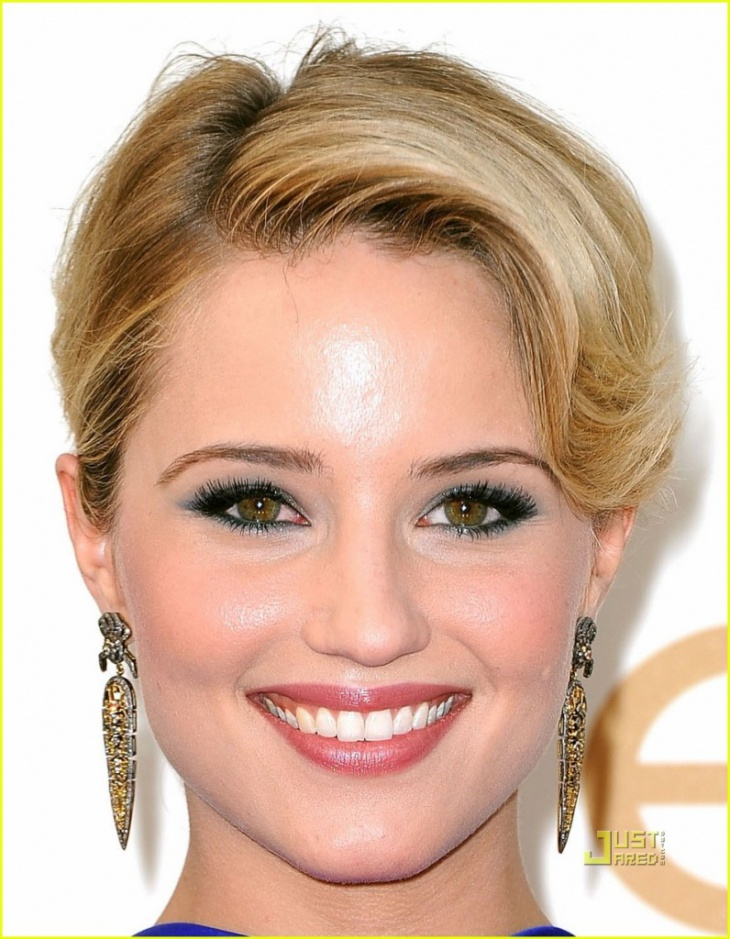 Dianna Agron Unique Hazel Eye Makeup