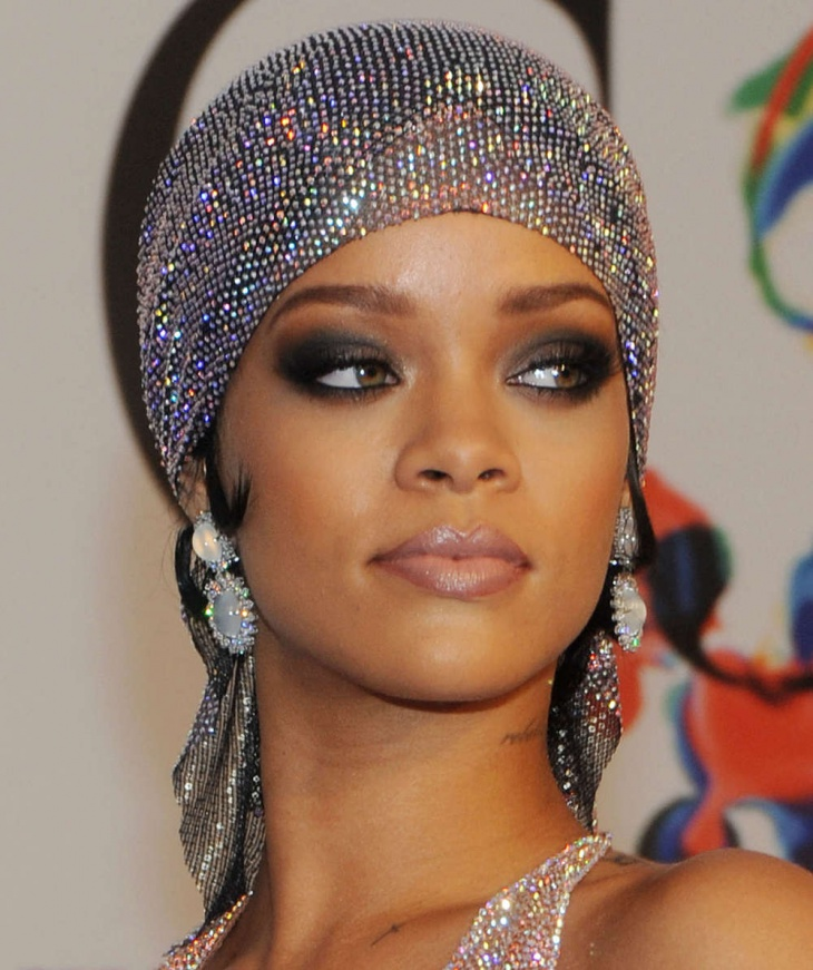 Rihanna Hazel Eye Makeup for Brown Eyes