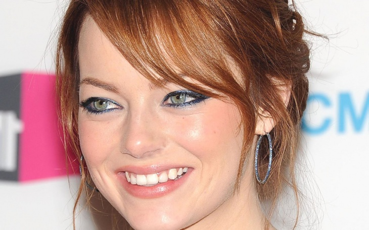 Emma Stone Hazel Eye Makeup for Green Eyes