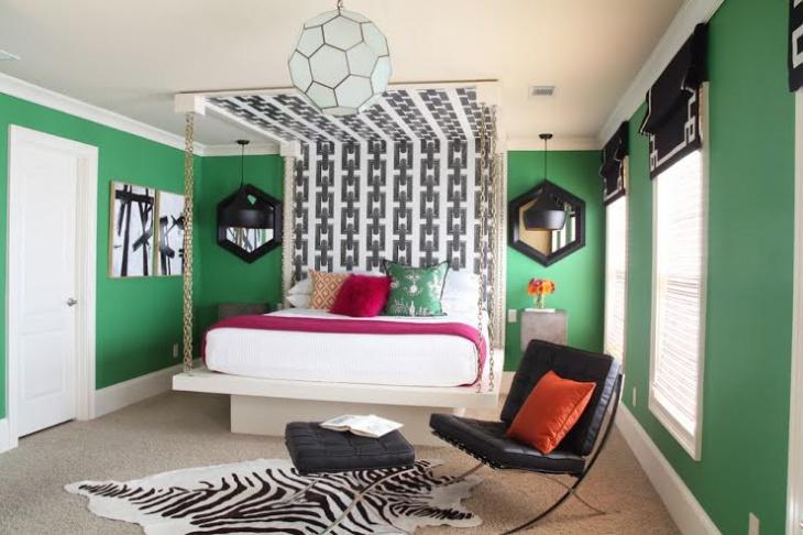 unique green bedroom design picture