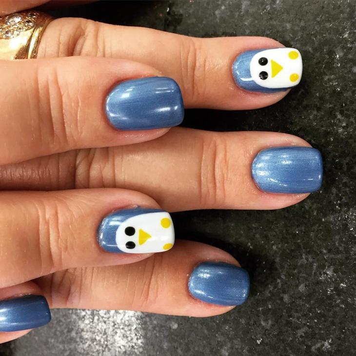 Stunning Blue Nail Design