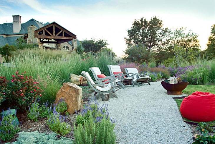 awesome landscape design with sitting area